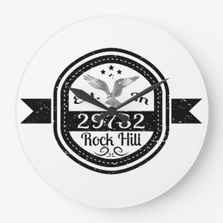 Established In 29732 Rock Hill Large Clock