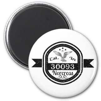 Established In 30093 Norcross 6 Cm Round Magnet