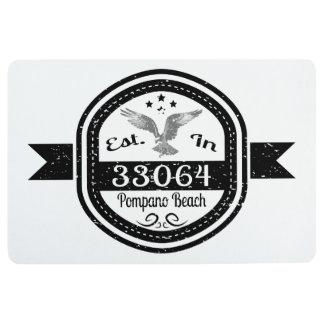 Established In 33064 Pompano Beach Floor Mat