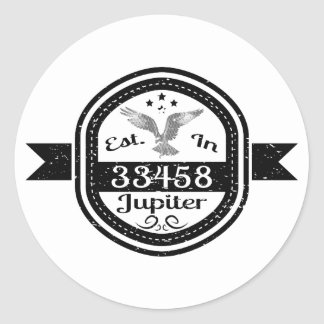 Established In 33458 Jupiter Classic Round Sticker