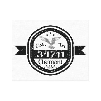 Established In 34711 Clermont Canvas Print