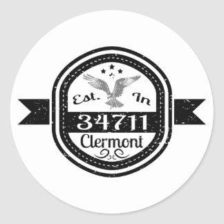 Established In 34711 Clermont Classic Round Sticker