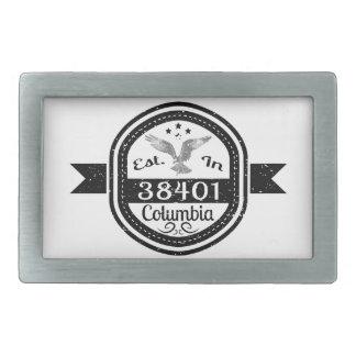 Established In 38401 Columbia Belt Buckle