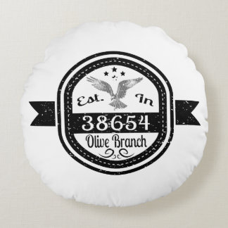 Established In 38654 Olive Branch Round Cushion
