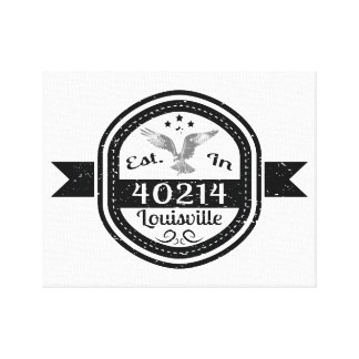 Established In 40214 Louisville Canvas Print