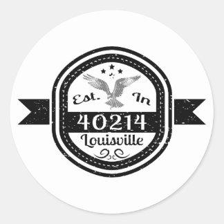 Established In 40214 Louisville Classic Round Sticker