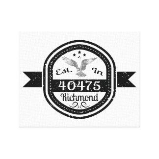 Established In 40475 Richmond Canvas Print