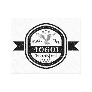 Established In 40601 Frankfort Canvas Print