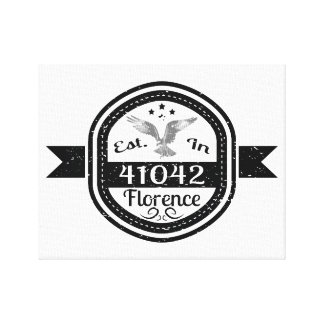 Established In 41042 Florence Canvas Print