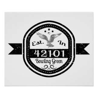 Established In 42101 Bowling Green Poster