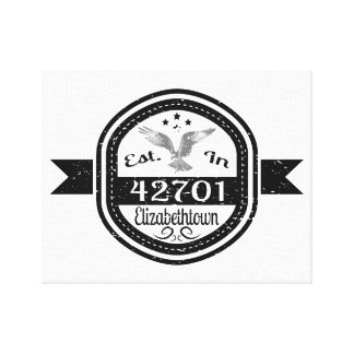 Established In 42701 Elizabethtown Canvas Print