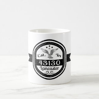 Established In 43130 Lancaster Coffee Mug