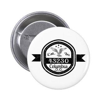 Established In 43230 Columbus 6 Cm Round Badge