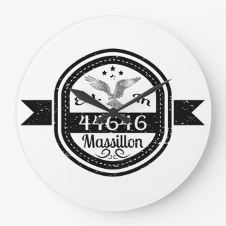 Established In 44646 Massillon Large Clock