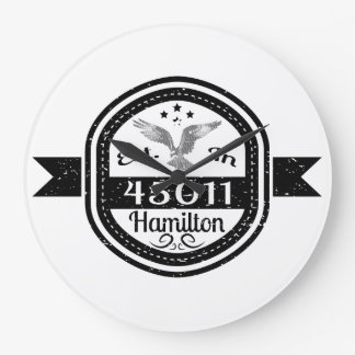 Established In 45011 Hamilton Large Clock
