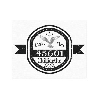 Established In 45601 Chillicothe Canvas Print