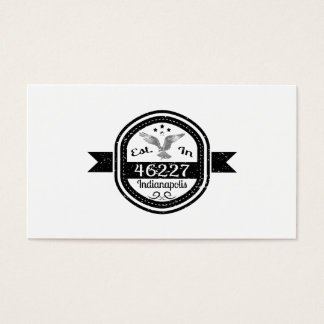 Established In 46227 Indianapolis Business Card