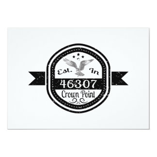 Established In 46307 Crown Point Card