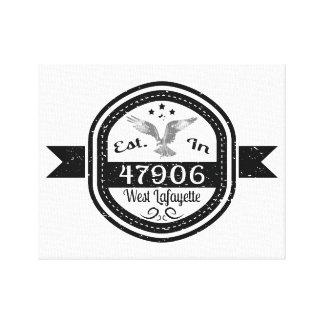 Established In 47906 West Lafayette Canvas Print