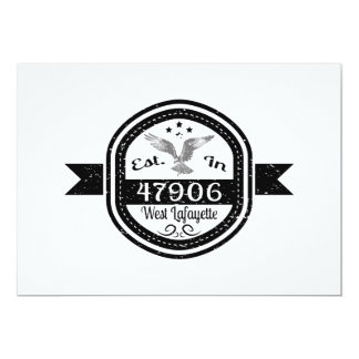 Established In 47906 West Lafayette Card