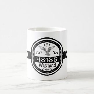 Established In 48185 Westland Coffee Mug