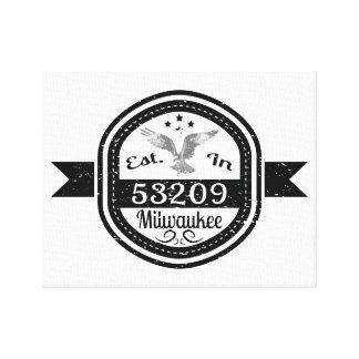 Established In 53209 Milwaukee Canvas Print