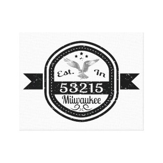 Established In 53215 Milwaukee Canvas Print