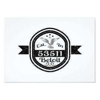 Established In 53511 Beloit Card