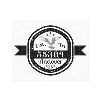 Established In 55304 Andover Canvas Print