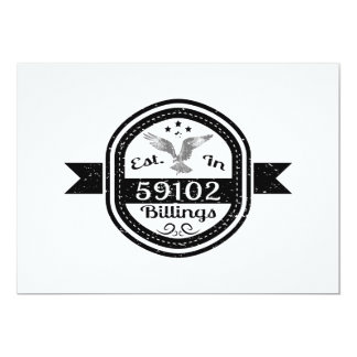 Established In 59102 Billings Card