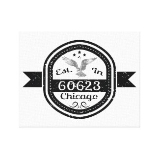 Established In 60623 Chicago Canvas Print