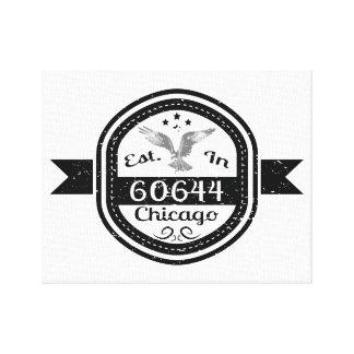 Established In 60644 Chicago Canvas Print