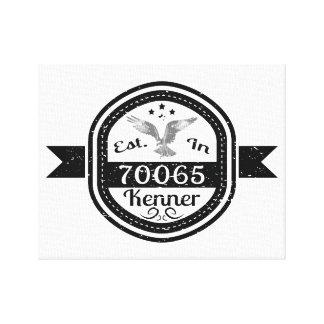 Established In 70065 Kenner Canvas Print