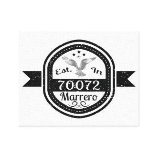 Established In 70072 Marrero Canvas Print
