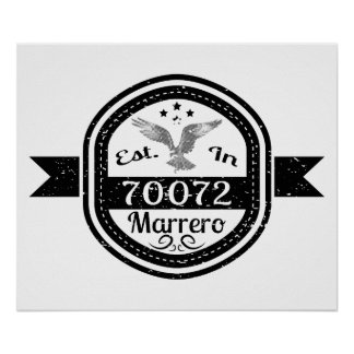 Established In 70072 Marrero Poster