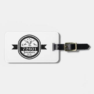 Established In 72401 Jonesboro Luggage Tag
