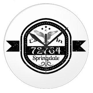 Established In 72764 Springdale Large Clock