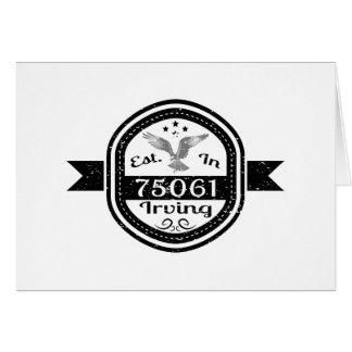 Established In 75061 Irving Card