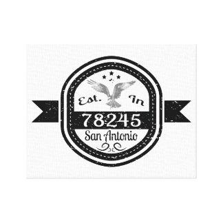 Established In 78245 San Antonio Canvas Print