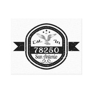 Established In 78250 San Antonio Canvas Print
