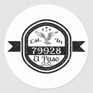 Established In 79928 El Paso Classic Round Sticker