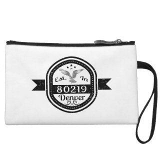 Established In 80219 Denver Wristlet