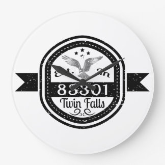 Established In 83301 Twin Falls Large Clock