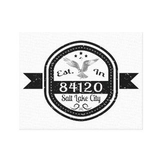 Established In 84120 Salt Lake City Canvas Print