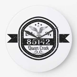 Established In 85142 Queen Creek Large Clock