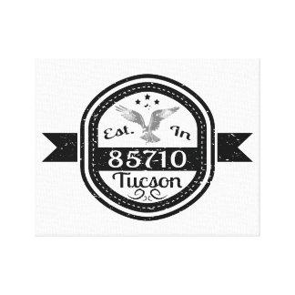 Established In 85710 Tucson Canvas Print