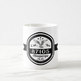 Established In 87105 Albuquerque Coffee Mug