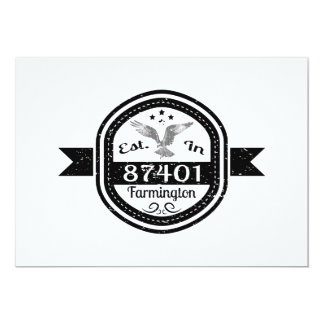 Established In 87401 Farmington Card