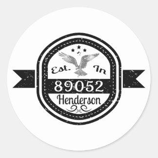 Established In 89052 Henderson Classic Round Sticker