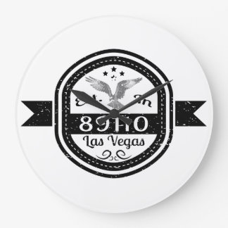 Established In 89110 Las Vegas Large Clock